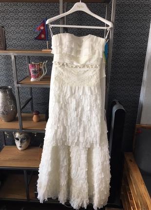 Свадебное платье-трансформер (длинное-короткое) papillon. торг!2 фото