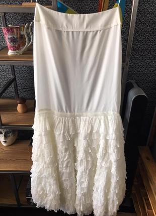 Свадебное платье-трансформер (длинное-короткое) papillon. торг!4 фото