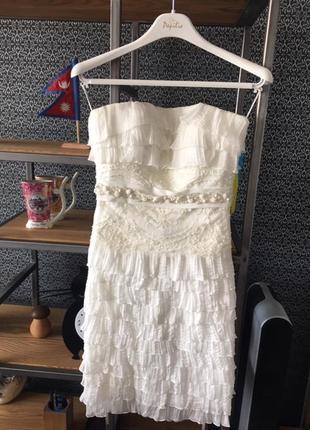 Свадебное платье-трансформер (длинное-короткое) papillon. торг!