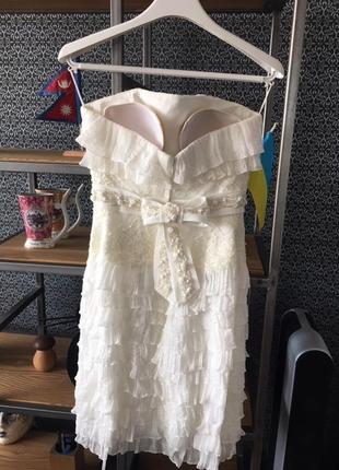 Свадебное платье-трансформер (длинное-короткое) papillon. торг!3 фото