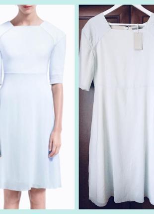 Ніжне, легке, елегантне плаття midi cos, небесно блакитного кольору, розмір м/л1 фото