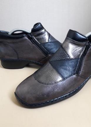 39 p. rieker кожаные удобные полу ботинки ботильоны