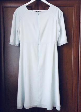 Ніжне, легке, елегантне плаття midi cos, небесно блакитного кольору, розмір м/л3 фото