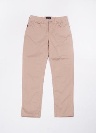 Укороченные бежевые  чиносы брюки armani jeans