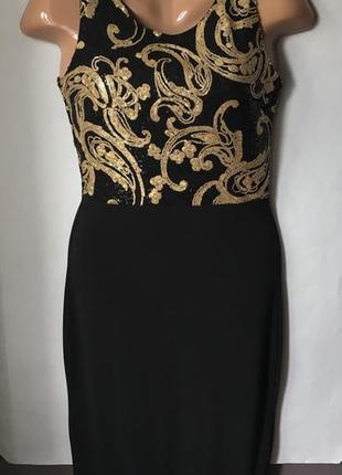 Шикарное платье с пайетками