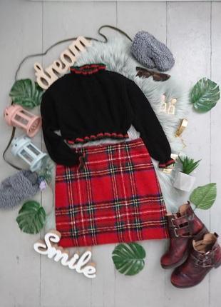 Тёплая юбка мини №18