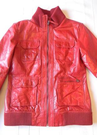 Кожаная куртка tom tailor в стиле кежуал распродажа р.м