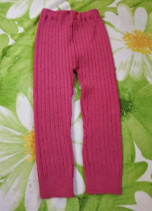 Теплые ретузы (лосины, штанишки) на девочку 4-5 лет.