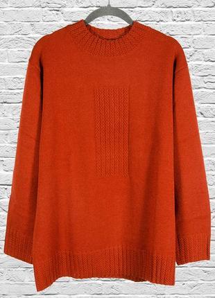 Коричневый свитер оверсайз, женский свитер свободный, женский пуловер оверсайз