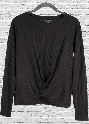 Однотонный черный свитер женский, женский пуловер черный