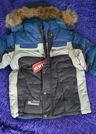 Акция куртка зимняя для мальчика kiko код.171201