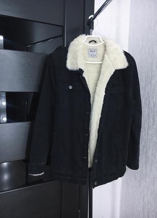 Шерпа джинсовая куртка на меху1 фото