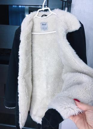 Шерпа джинсовая куртка на меху2 фото