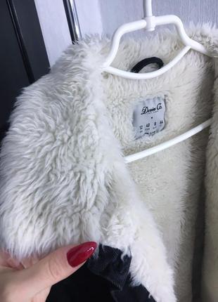 Шерпа джинсовая куртка на меху4 фото