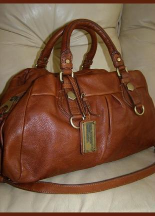 Vip шикарная большая кожаная сумка - 100% натуральная кожа – модельер marc jacobs - 100% оригинал1
