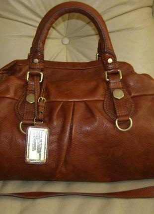Vip шикарная большая кожаная сумка - 100% натуральная кожа – модельер marc jacobs - 100% оригинал2