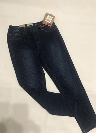 Трикотажные детские штаны под джинс