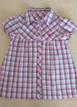 Рубашка dopo dopo girls на девочку 7-8 лет