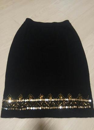 Акриловая тёплая юбка