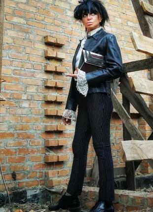 Натуральная кожаная куртка пиджак кожа жакет