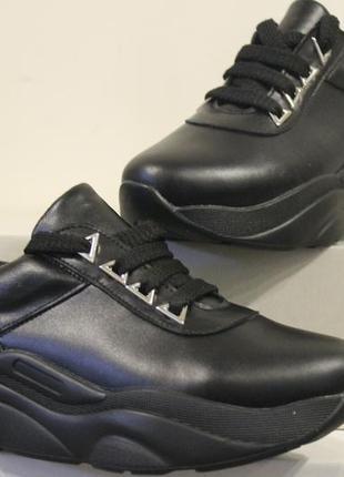 Женские кроссовки, кожа натуральная, 34-41р4 фото