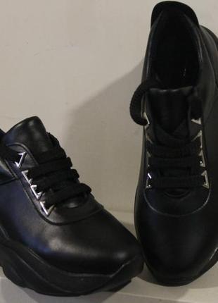 Женские кроссовки, кожа натуральная, 34-41р6 фото