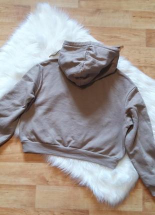 H&m divided свитшот m топ короткий свободный оверсайз тренд свитер капюшон принт5 фото
