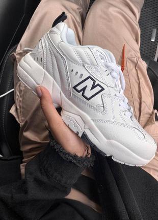 Шикарные женские кожаные кроссовки new balance 608 white 😍 (весна/ лето/ осень)