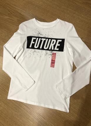 Хлопковая футболка с рукавом