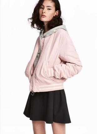 Куртка бомбер розовая пудра h&m