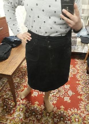 Тёплая джинсовая юбка