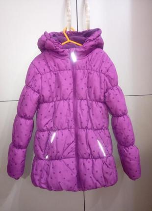Куртка еврозима с сердечками девочке topolino, рост 128
