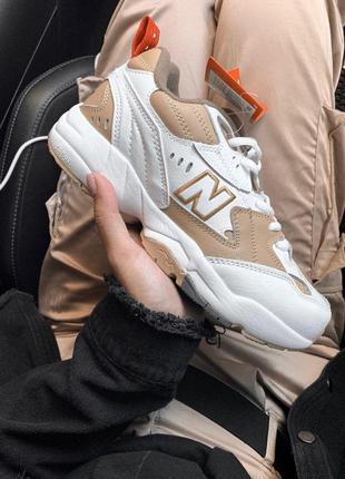 Шикарные женские кроссовки new balance 608 white/ beige 😍 (весна/ лето/ осень)