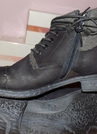 Кожаная стильная обувь от bugatti 40 р сост хорош
