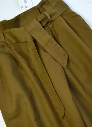 Стильные плотные брюки кюлоты хлопок и лён zara3 фото