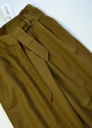 Стильные плотные брюки кюлоты хлопок и лён zara2 фото