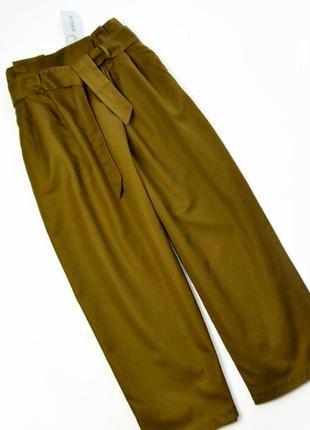 Стильные плотные брюки кюлоты хлопок и лён zara