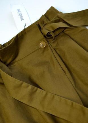 Стильные плотные брюки кюлоты хлопок и лён zara4 фото
