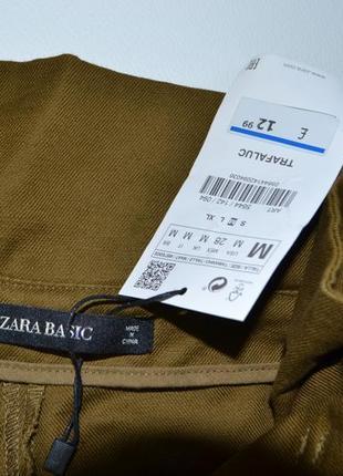 Стильные плотные брюки кюлоты хлопок и лён zara5 фото