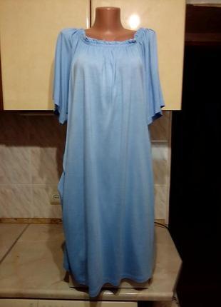 Новое платье, большемер, вискоза, можно как домашнее или ночнушку, поб 85+