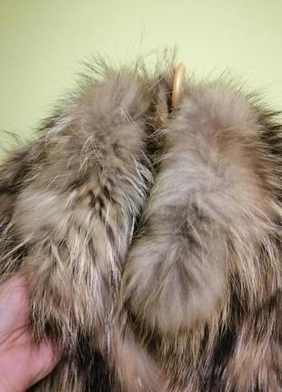Меховый тёплый жилет жилетка кожа, мех d&g3 фото