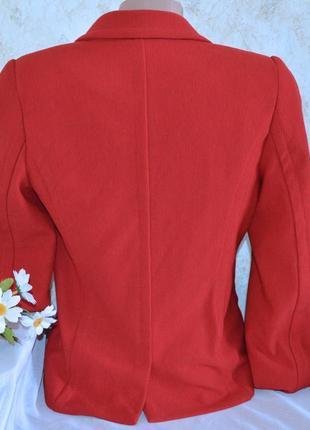 Брендовый красный пиджак жакет блейзер с карманами next вискоза этикетка3 фото