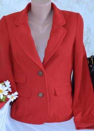 Брендовый красный пиджак жакет блейзер с карманами next вискоза этикетка2 фото