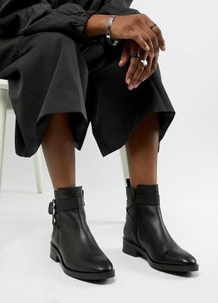 Кожаные ботинки asos с ремешками,размер 42