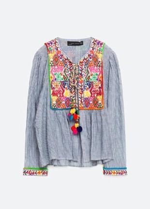 Отличная накидка жакет блуза в стиле бохо от zara, p. l