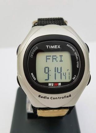 Часы timex t5g341 radio control indiglo, радиосинхронизация. подсветка.