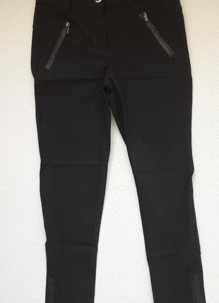 Крутые стрейчевые плотные брюки низ замочки fransa