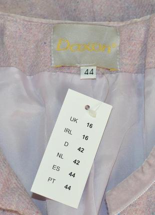 Брендовый пиджак жакет блейзер с карманами daxon акрил шерсть этикетка4 фото