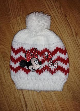 Шапка на девочку шапочка с минни маусом