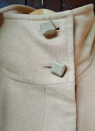 Пальто из натуральной шерсти цвет кэмел3 фото